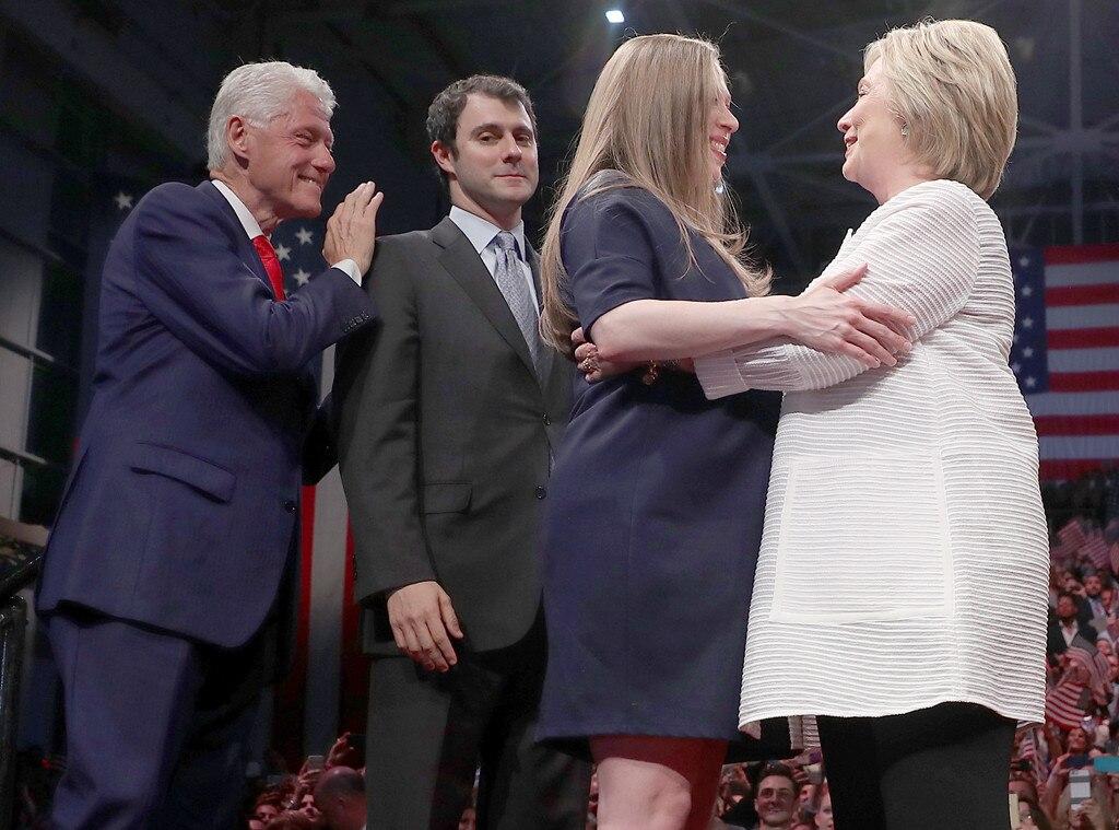 Bill Clinton, Marc Mezvinsky, Hillary Clinton, Chelsea Clinton