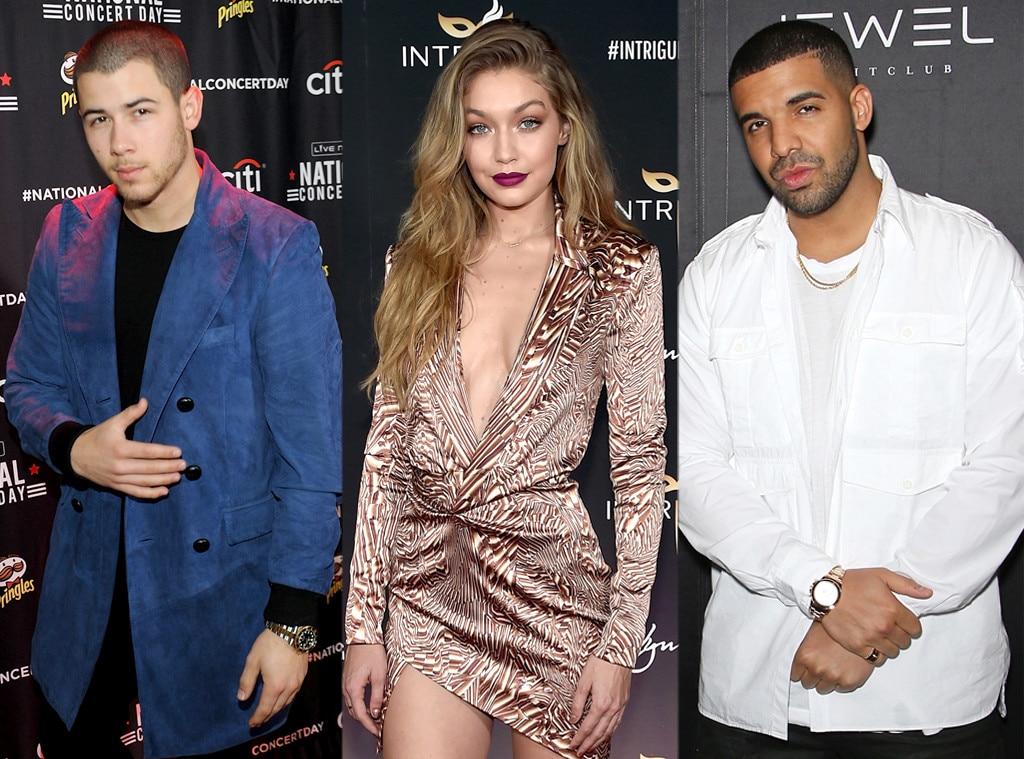 Nick Jonas, Gigi Hadid, Drake