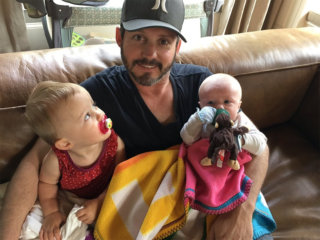 Kelly Clarkson's husband Brandon Blackstock with their two children