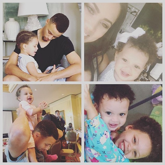 Stephen Curry, Ayesha Curry, Father's Day 2016, Instagram