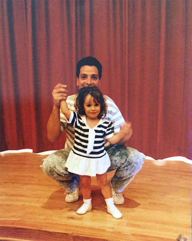 Lea Michele Amp Dad Marc Sarfati From Stars Celebrate Father