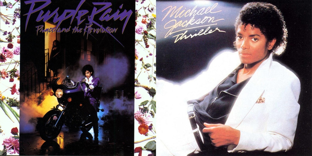 Prince, Purple Rain, Michael Jackson, Thriller