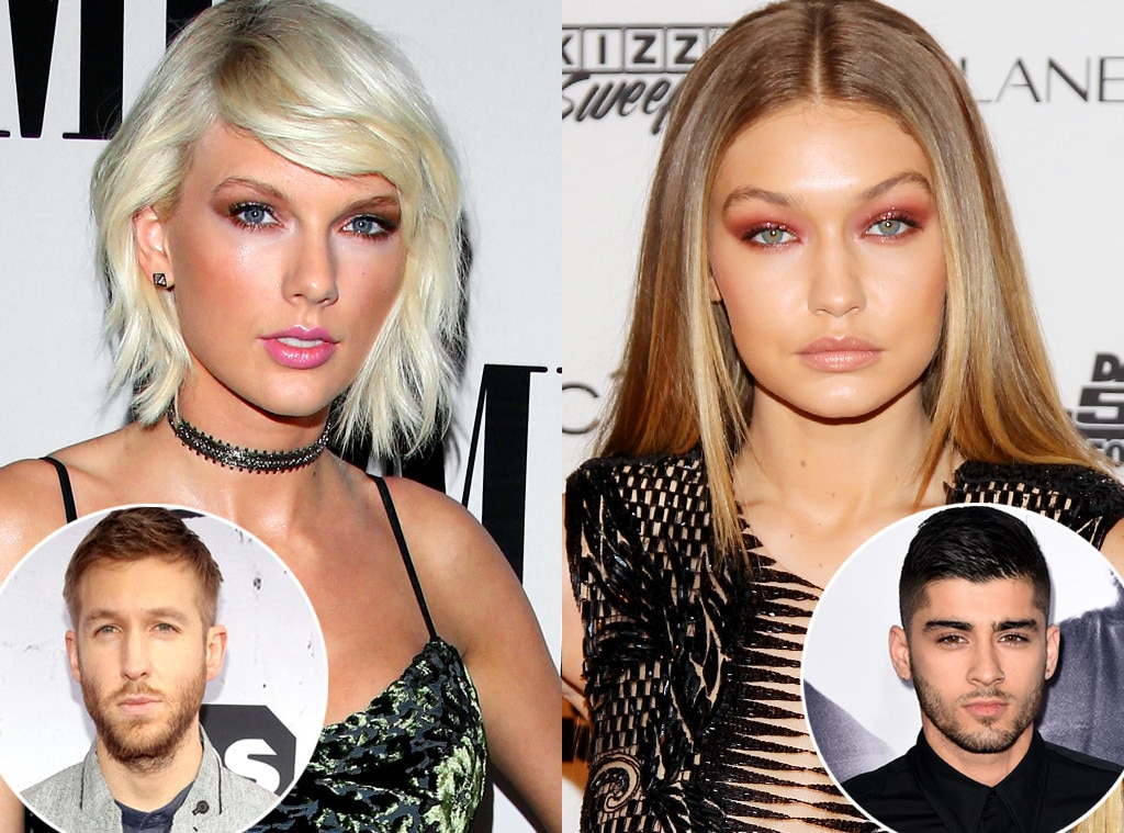 Taylor Swift, Gigi Hadid, Calvin Harris, Zayn Malik