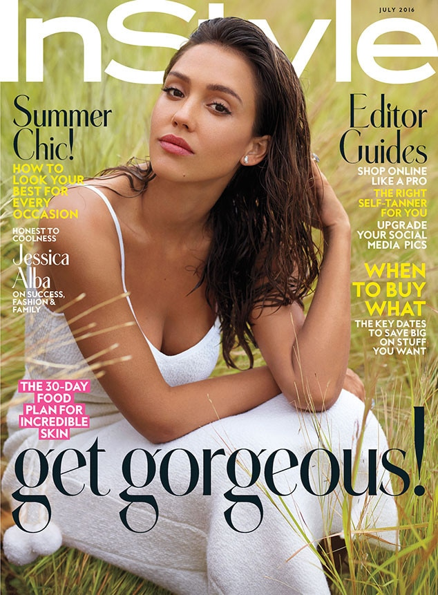InStyle, Jessica Alba, July Issue