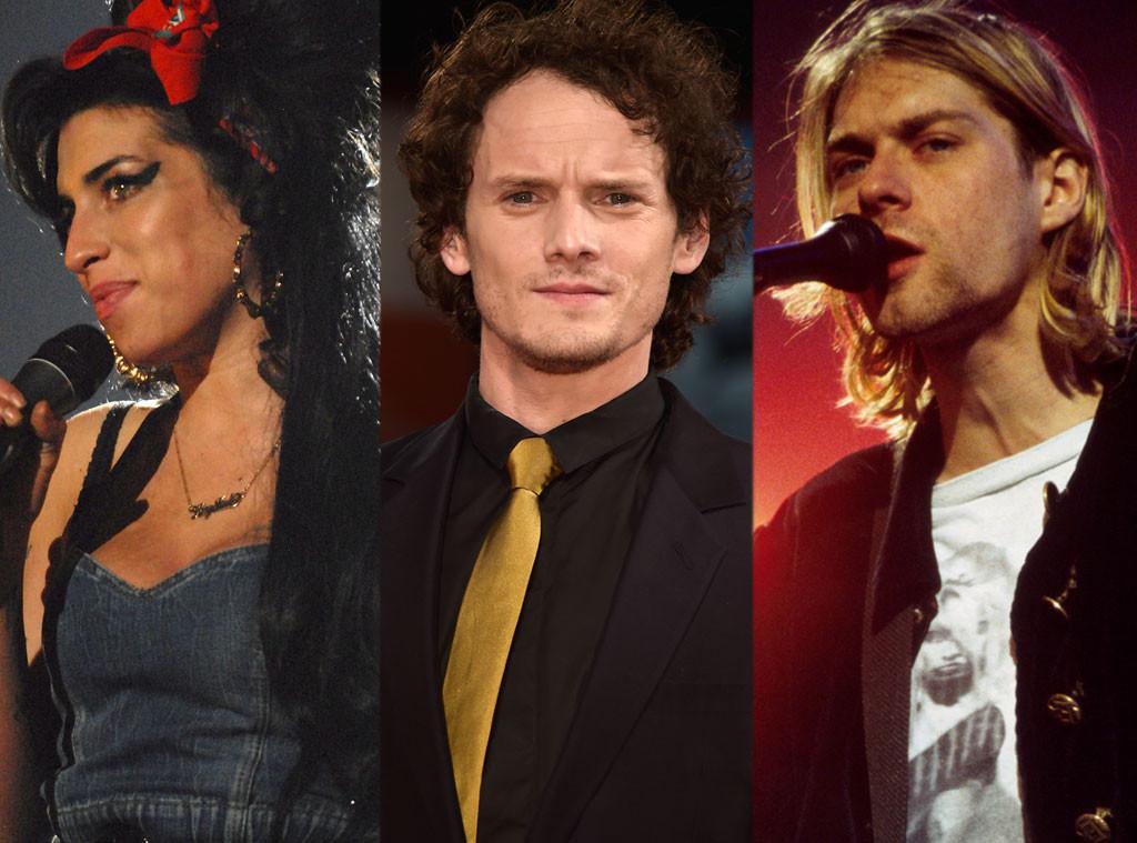 Amy Winehouse, Anton Yelchin, Kurt Cobain