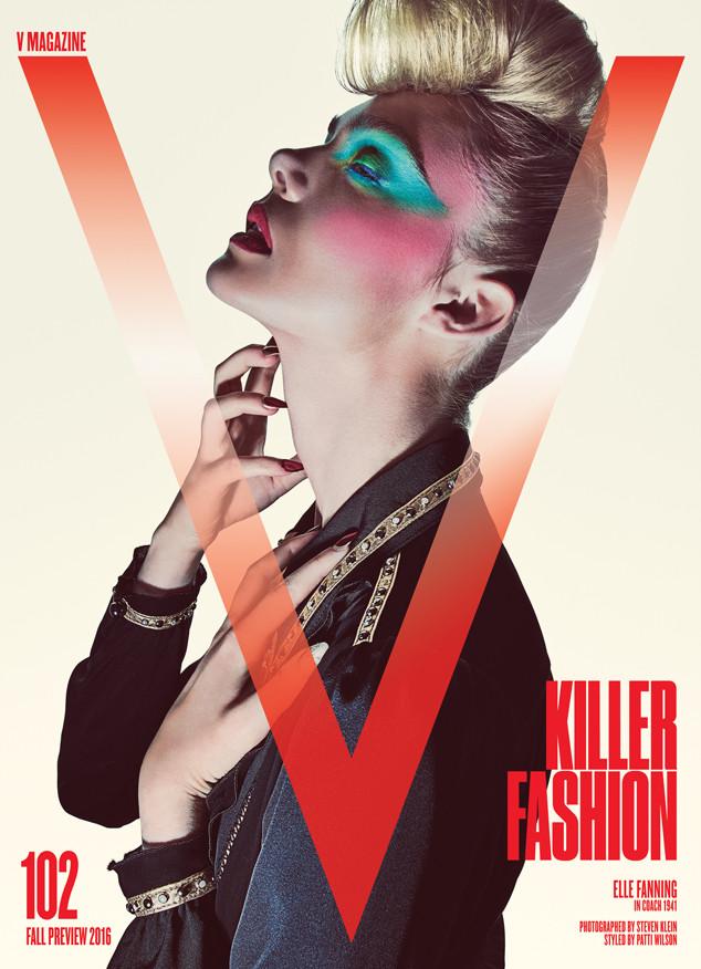 ESC: Elle Fanning, V Magazine, EMBARGO