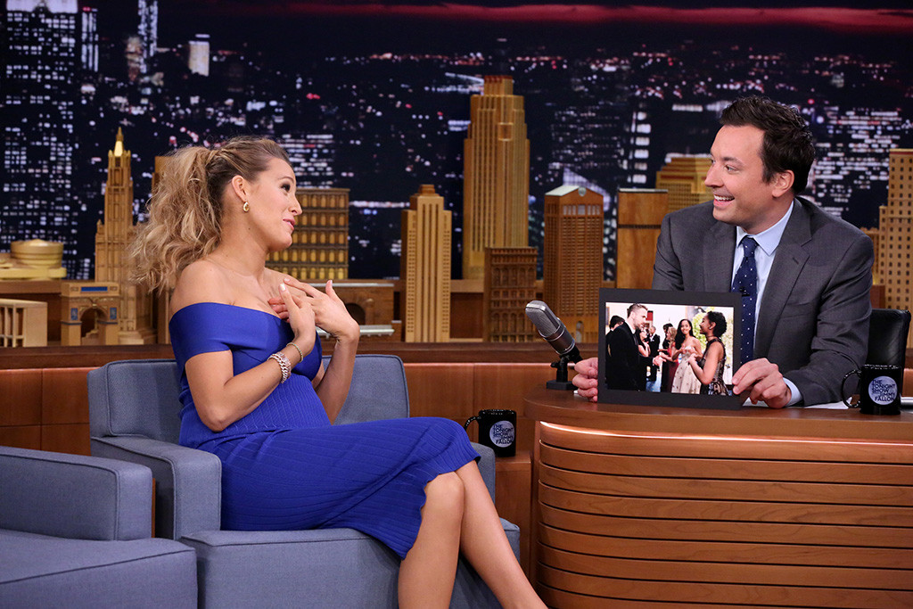 Blake Lively, Jimmy Fallon, The Tonight Show