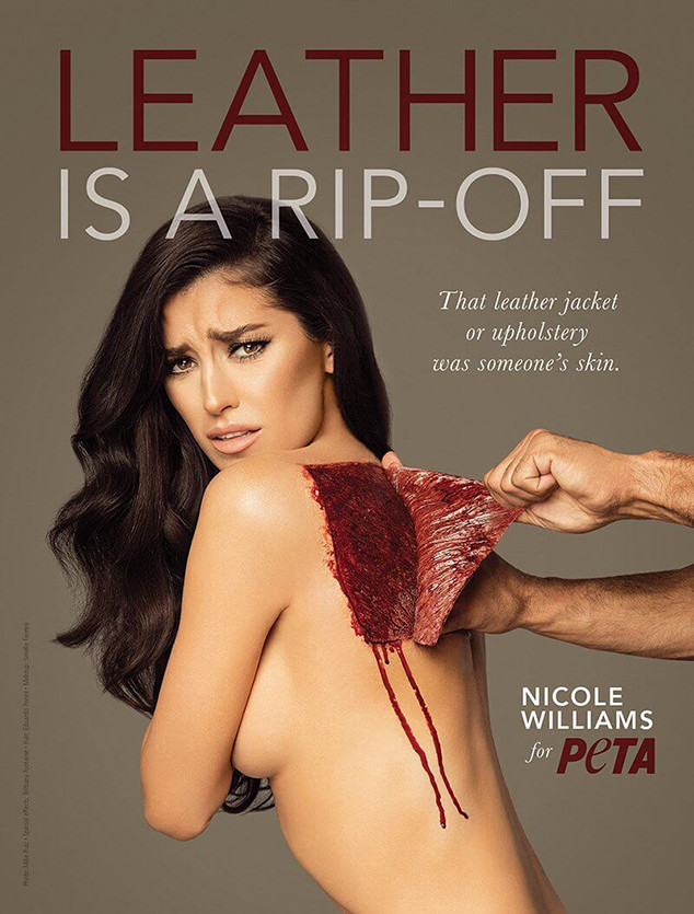 Wags Star Nicole Williams Poses Topless For Gruesome Anti