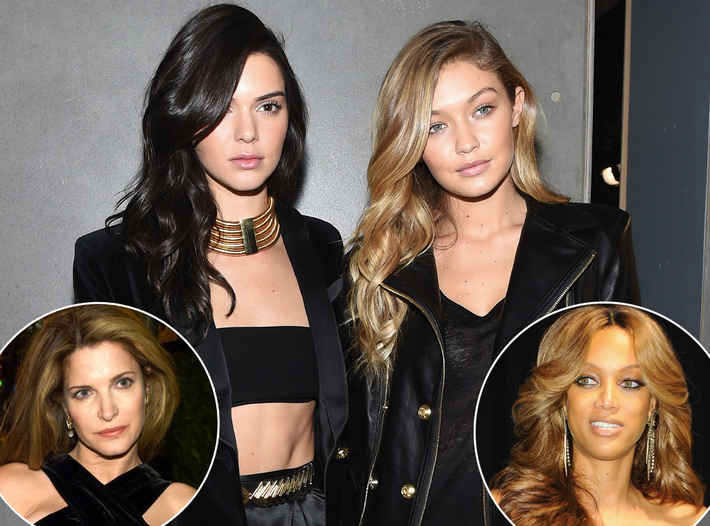 Gigi Hadid, Kendall Jenner, Stephanie Seymour, Tyra Banks