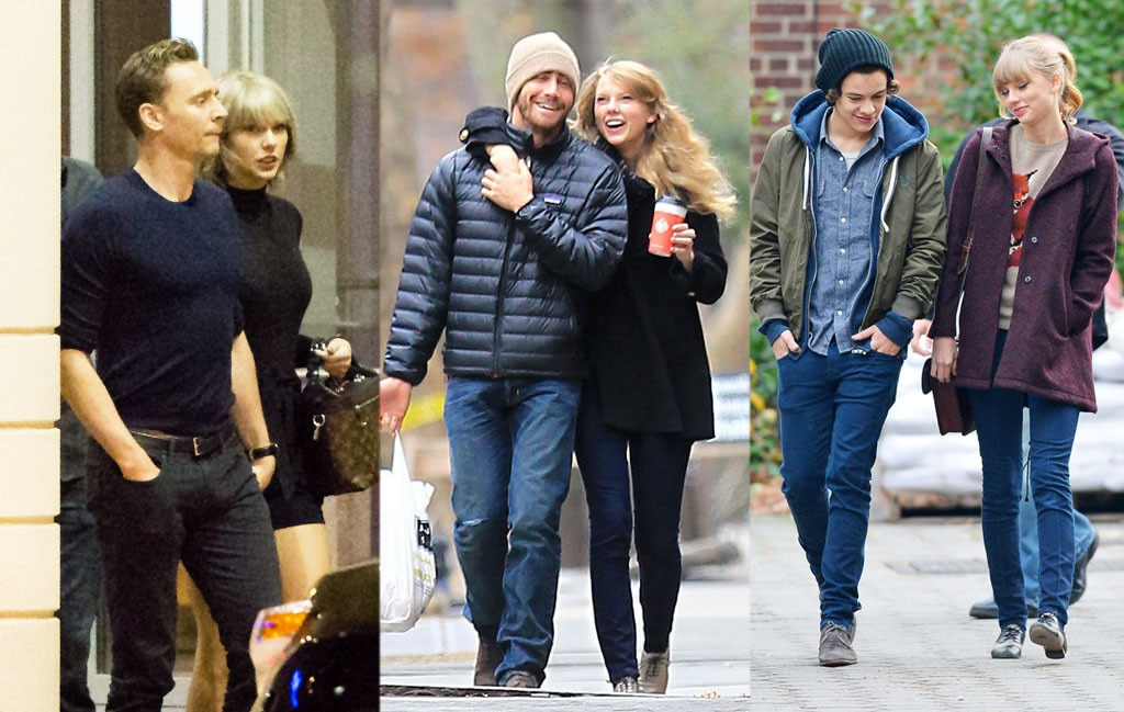 Taylor Swift, Tom Hiddleston, Jake Gyllenhaal, Harry Styles
