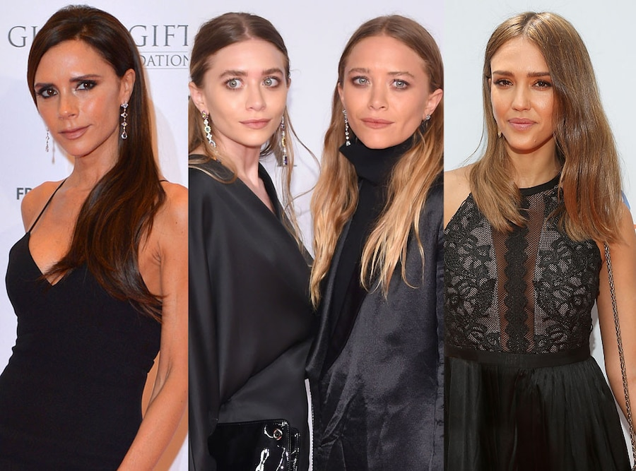 Victoria Beckham, Mary-Kate Olsen, Ashley Olsen, Jessica Alba