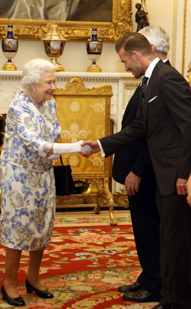 Queen Elizabeth, David Beckham