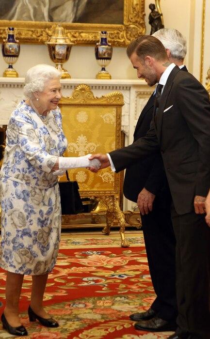 Queen Elizabeth, David Beckham