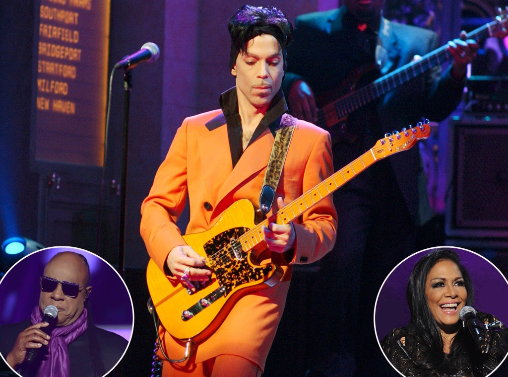 Prince, Stevie Wonder, Sheila E.