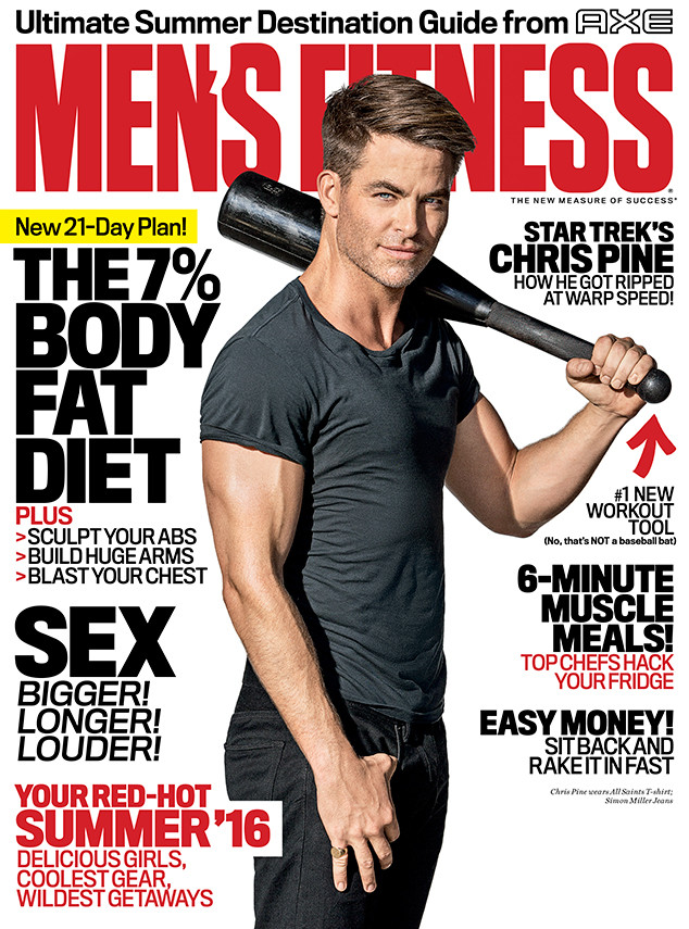 Chris Pine, Mens Fitness July / August 2016 Cover
