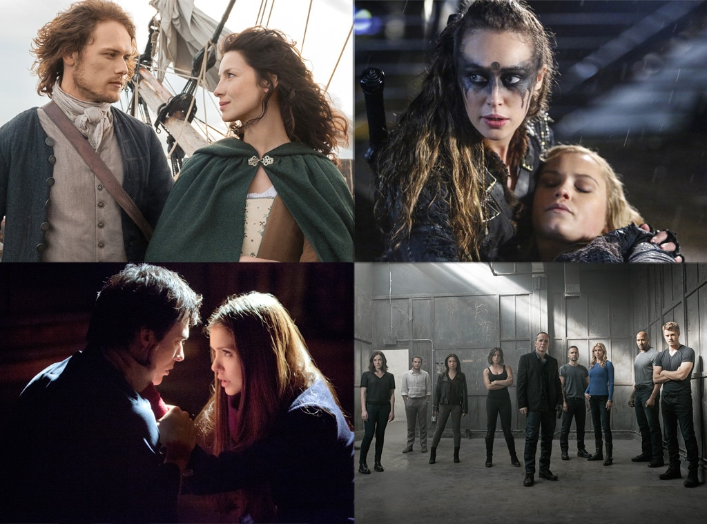 Outlander, The 100, Agents of SHIELD, Vampire Diaries, Best Fandom, Cast of Twitters