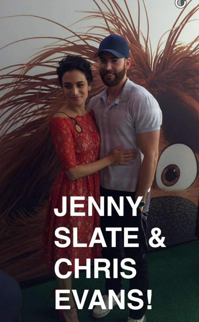 Chris Evans, Jenny Slate, Secret Life of Pets Premiere