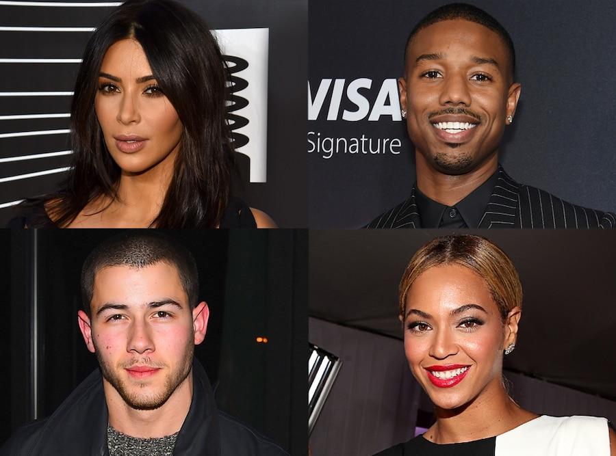 Kim Kardashian, Nick Jonas, Beyonce, Michael B. Jordan