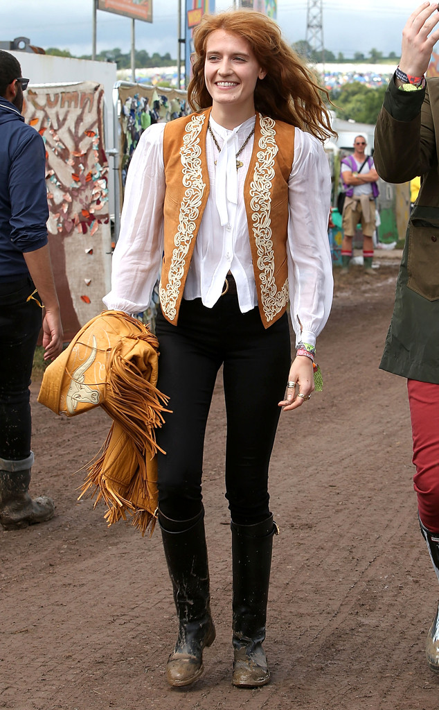 Historical Look Back at Celebs in Wellies at Glastonbury Festival, Florence Welch