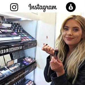 How Celebs Make Money on Instagram Graphic, Ashley Benson