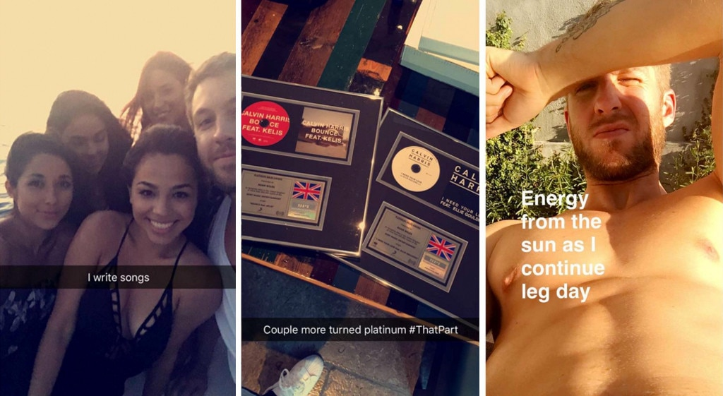 Calvin Harris Snapchat