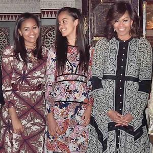Princess Lalla Hasna, Michelle Obama, Malia Obama, Sasha Obama, Princesses Lalla Salma, Lalla Meryem, Lalla Asmaa