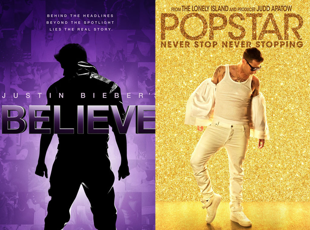 Popstar: Never Stop Never Stopping, Justin Bieber's Believe, Movie Posters