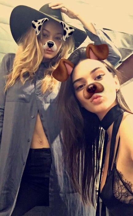 Kendall Jenner, Gigi Hadid, Snapchat