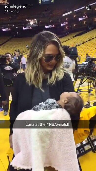 Chrissy Teigen, Breastfeeding, NBA Basketball Game