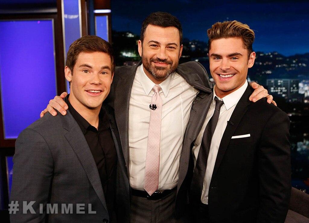 Zac Efron, Adam DeVine, Jimmy Kimmel