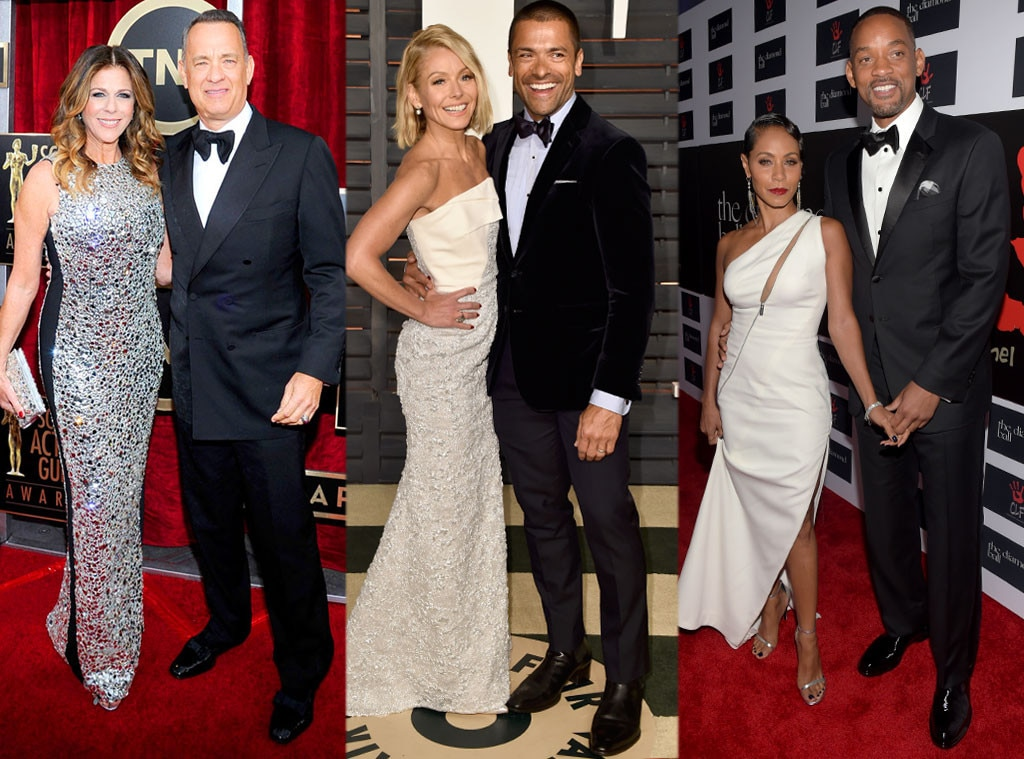 Tom Hank, Rita Wilson, Kelly Ripa, Mark Conseulos, Will Smith, Jada Pinkett Smith