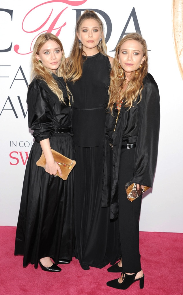 Ashley Olsen, Elizabeth Olsen, Mary-Kate Olsen, 2016 CFDA Fashion Awards