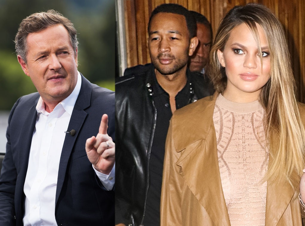 Chrissy Teigen, John Legend, Piers Morgan