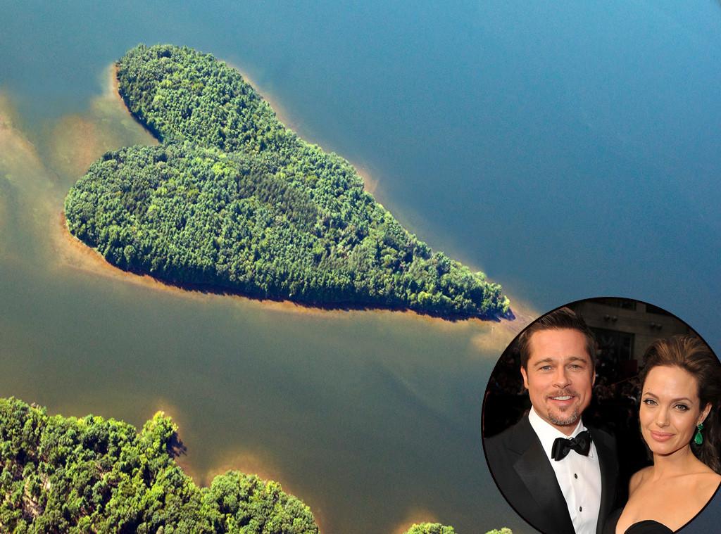 Angelina Jolie, Brad Pitt, Heart Shaped Island, Lavish Gifts