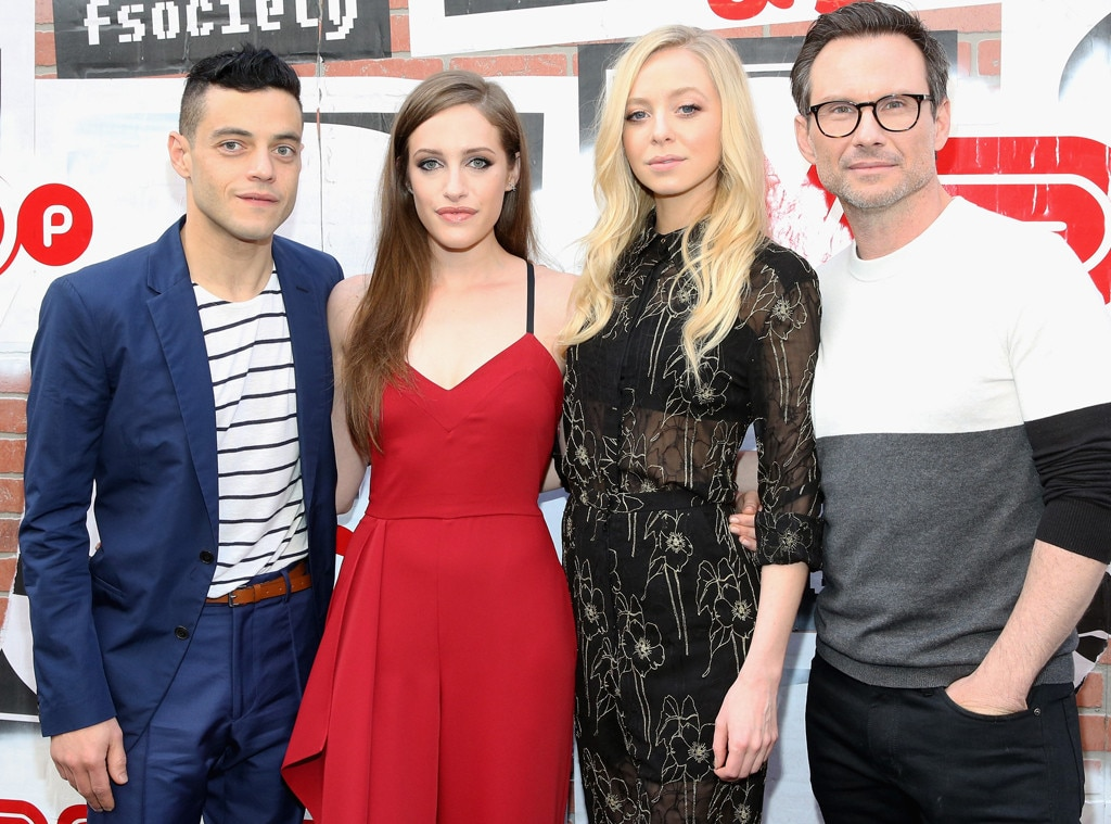 Rami Malek, Carly Chaikin, Portia Doubleday, Christian Slater, Mr. Robot