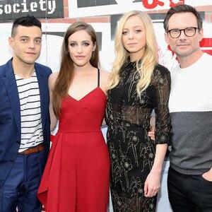 Rami Malek, Carly Chaikin, Portia Doubleday, Christian Slater, Mr. Robot