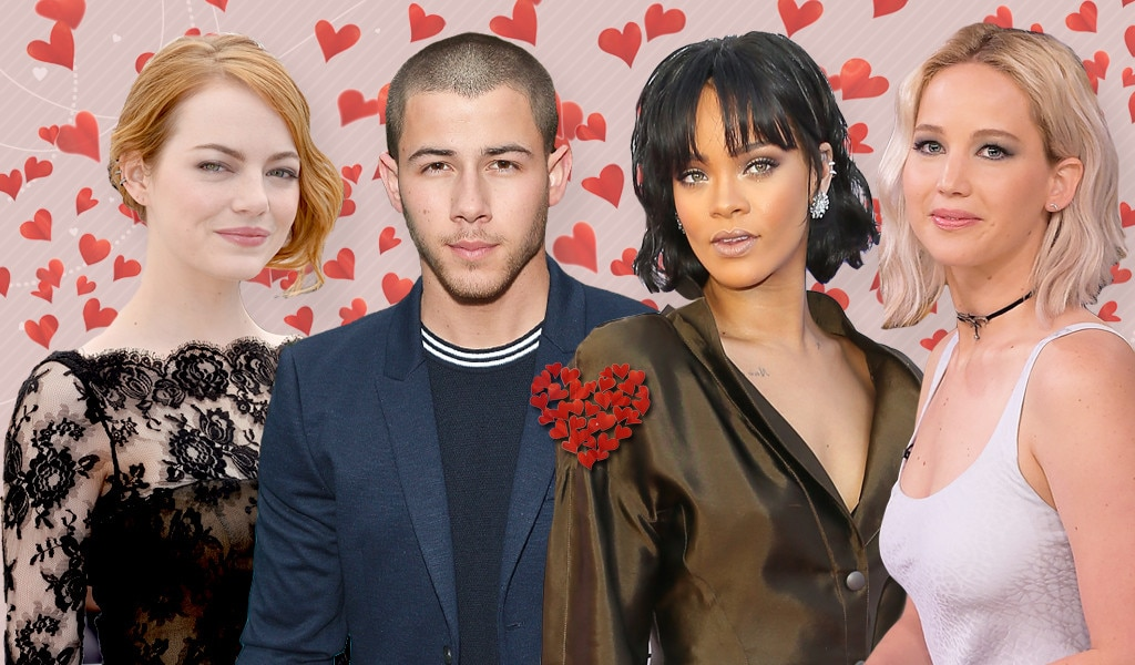 Shipped Couples, Emma Stone, Nick Jonas, Rihanna, Jennifer Lawrence