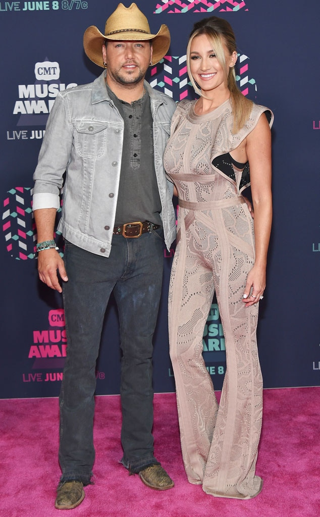 Jason Aldean, Brittany Kerr, 2016 CMT Awards