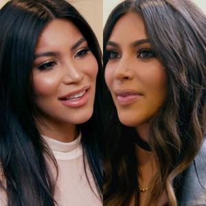 Kim Kardashian, look-alike