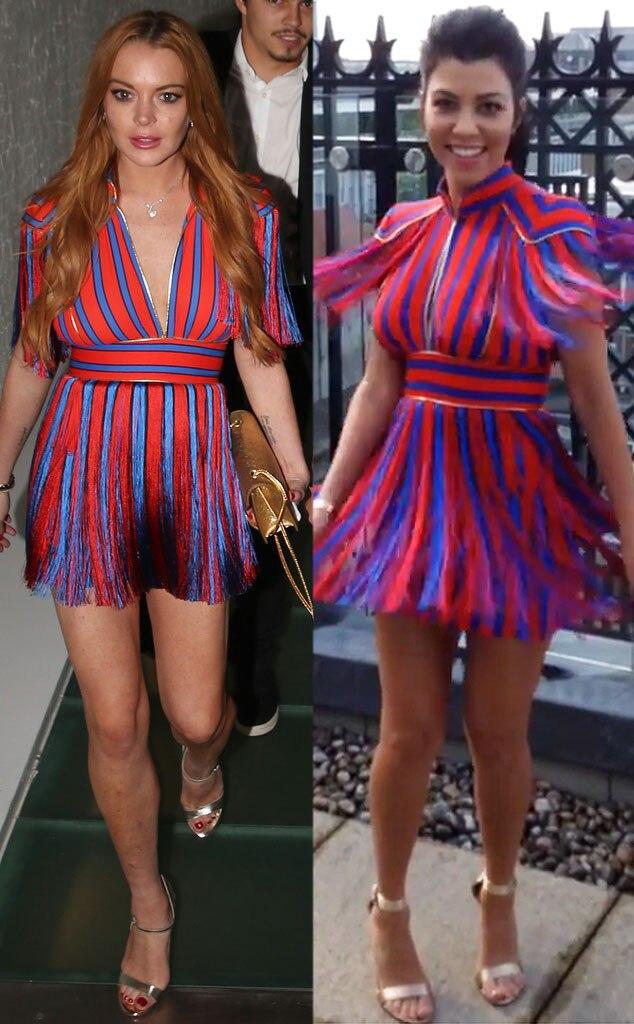 Lindsay Lohan, Kourtney Kardashian