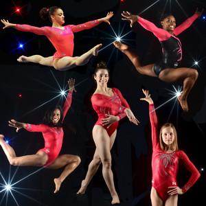 Gabby Douglas, Simone Biles, Aly Raisman, Laurie Hernandez, Madison Kocian, Gymnastic Olympian Team 2016 Rio