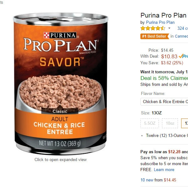 Amazon Prime Day, Dog Food
