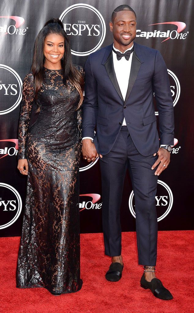 Gabrielle Union Amp Dwyane Wade From 2016 Espys Red Carpet