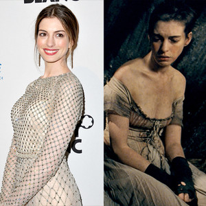 Anne Hathaway, Les Miserables, Weight Loss or Weight Gain for Roles