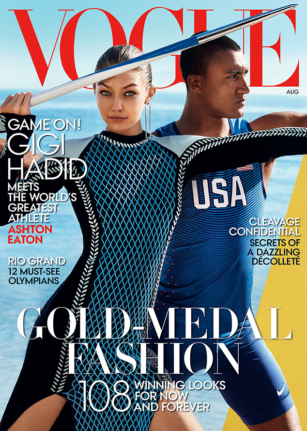 Gigi Hadid, Ashton Eaton, Vogue