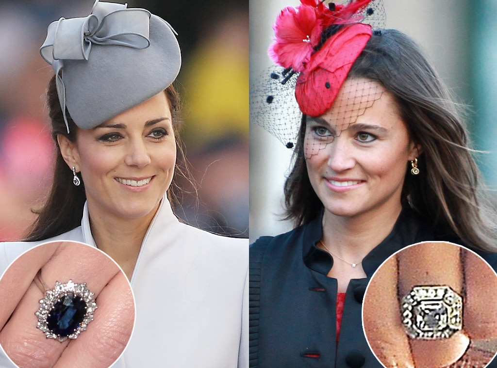 Stunning Sparklers: Comparing Pippa Middleton's and Kate ...