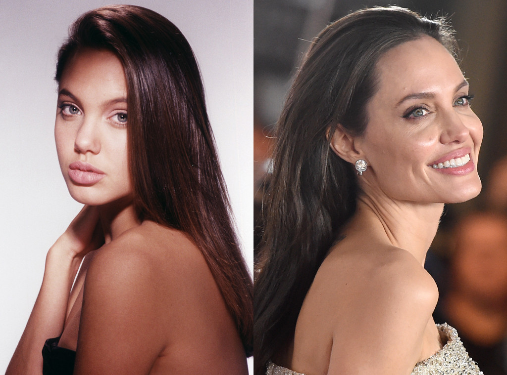 Angelina Jolie, Before and After, Nose Job Denial