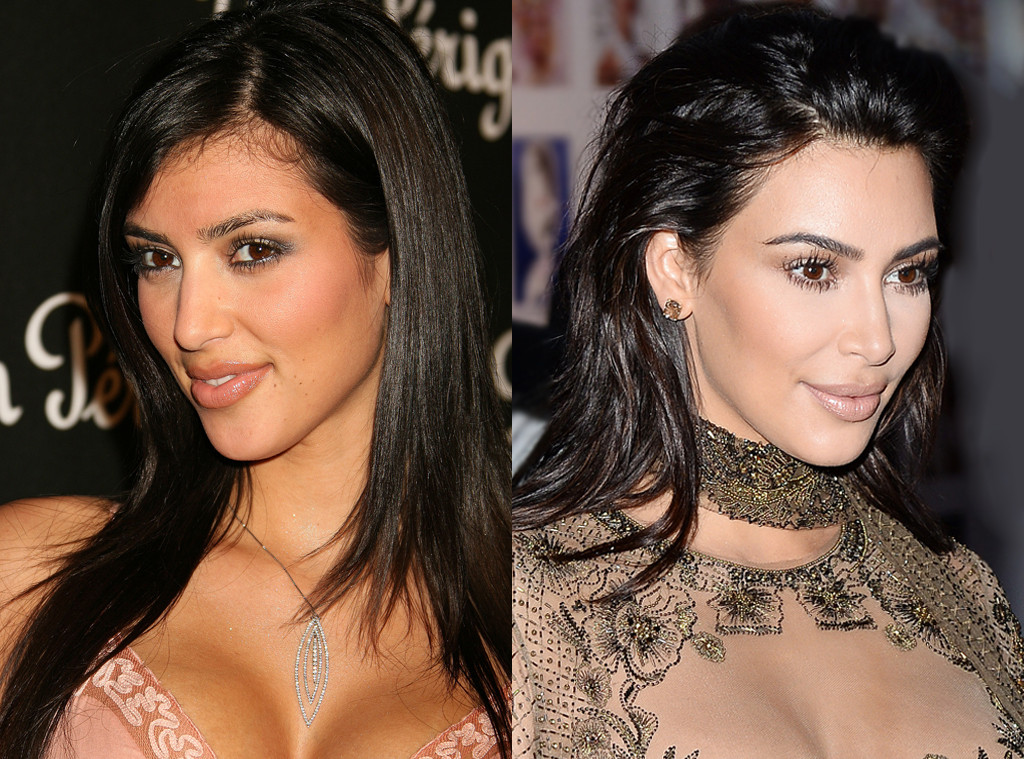 Kim Kardashian, Before and After, Nose Job Denial