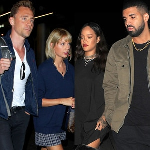 Tom Hiddleston, Taylor Swift, Rihanna, Drake
