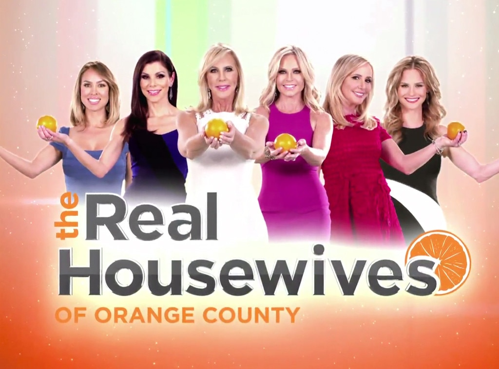 Inside the real housewives opening credits group shot all for Real houswives of orange county